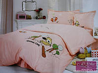 Детское постельное белье  с аппликацией 01 Бэмби Персик