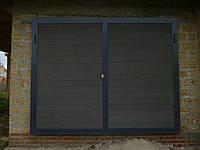 Ворота-металлический каркас под зашивку террасной доской