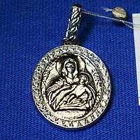 Иконка серебро Божья Матерь Козельщанская 3729-р