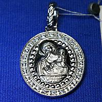 Иконка из серебра Пресвятая Богородица утешение 3739-р