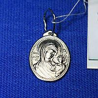 Серебряная нательная икона Богоматерь 3755-ч, фото 1