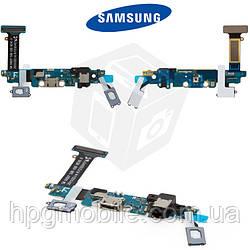 Шлейф для Samsung Galaxy S6 G920F, коннектора зарядки, коннектора наушников, с компонентами