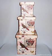 Шкатулка-коробка набор из 3-х - Корона SH31383-073