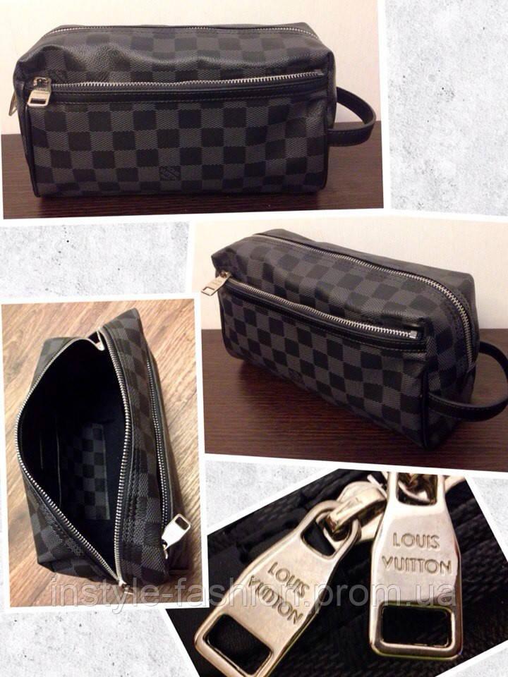 Косметичка Louis Vuitton черная  купить недорого копия продажа, цена ... 4f8d2a8ff81