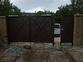 """Ворота жатые """"Мальта"""" однотонные. 4"""
