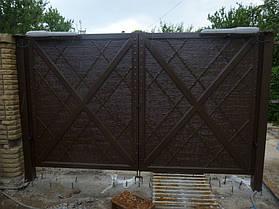 """Ворота жатые """"Мальта"""" однотонные. 2"""