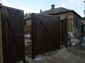 """Ворота жатые """"Мальта"""" однотонные. 5"""