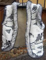 Жилетка жіноча хутряна з овечої шерсті