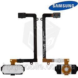 Шлейф для Samsung Galaxy S6 EDGE G925F, кнопки меню, с компонентами, белый, оригинал
