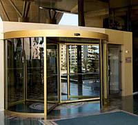 Автоматические карусельные двери производства GEZE Германия