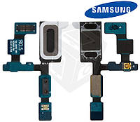 Шлейф для Samsung Galaxy S6 EDGE G925F, динамика, подсветки дисплея, с компонентами, оригинал