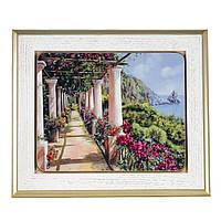 """IT15/11 Картина """" Італійський дворик"""" 31х37 см"""