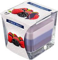 Лесные ягоды свеча ароматизированная в стекле трехцветная 1шт