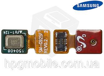 Шлейф для Samsung Galaxy S6 EDGE G925F, микрофона, с компонентами, оригинал