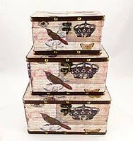Шкатулка набор из 3-х в стиле Шебби Шик SH31374-443