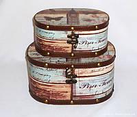 Шкатулка овальная набор из 2-х - Биг Бен SH31302-084