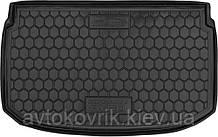 Полиуретановый коврик в багажник Chevrolet Aveo (T300) 2012- хетчбэк (AVTO-GUMM)