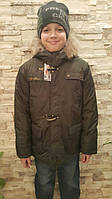 Демисезонная куртка-парка для мальчиков 116,122,128,134,140,146,152 роста