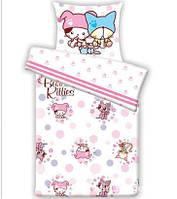 Комплект постельного белья в кроватку Le Vele B.KITTIES FLOWER