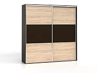 Шкаф SZF/230 F19 BRW венге/дуб сонома/темно-коричневый