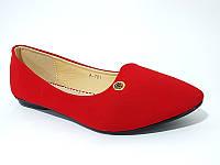 Замшевые балетки - туфли красного цвета! КАЧЕСТВО СУПЕР!