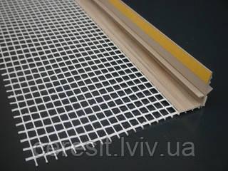 Профіль PVC віконний примикаючий з арм.сіткою 2,5м коричневий