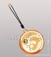 Зеркальце косметическое на шнурке WIN-118 золото