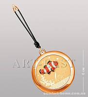 Зеркальце косметическое на шнурке WIN-122 золото
