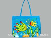 Сумка пляжная непромокаемая Рыбешки Голубой, арт. BK-12101-11