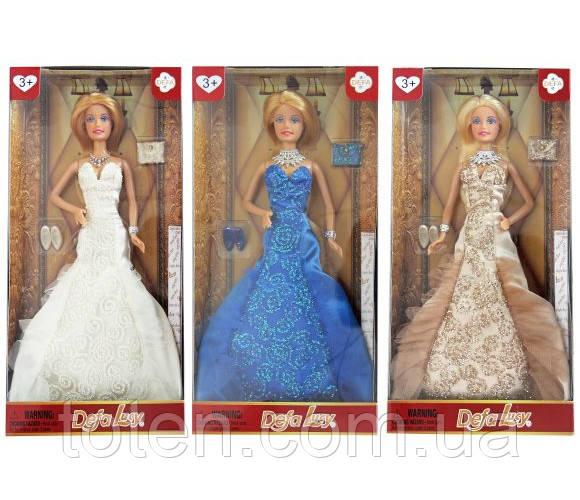 "Кукла DEFA 8270 ""Светский раут"", 30 см, 3 цвета, в коробке"
