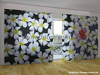 Фотоштора ПАНОРАМА 3D Тропические цветы, 2,7х5,0 м, арт. FRA-50000749