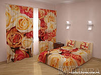 ФотоКомплект Совершенство, шторы + покрывало, арт. FRA-60000915