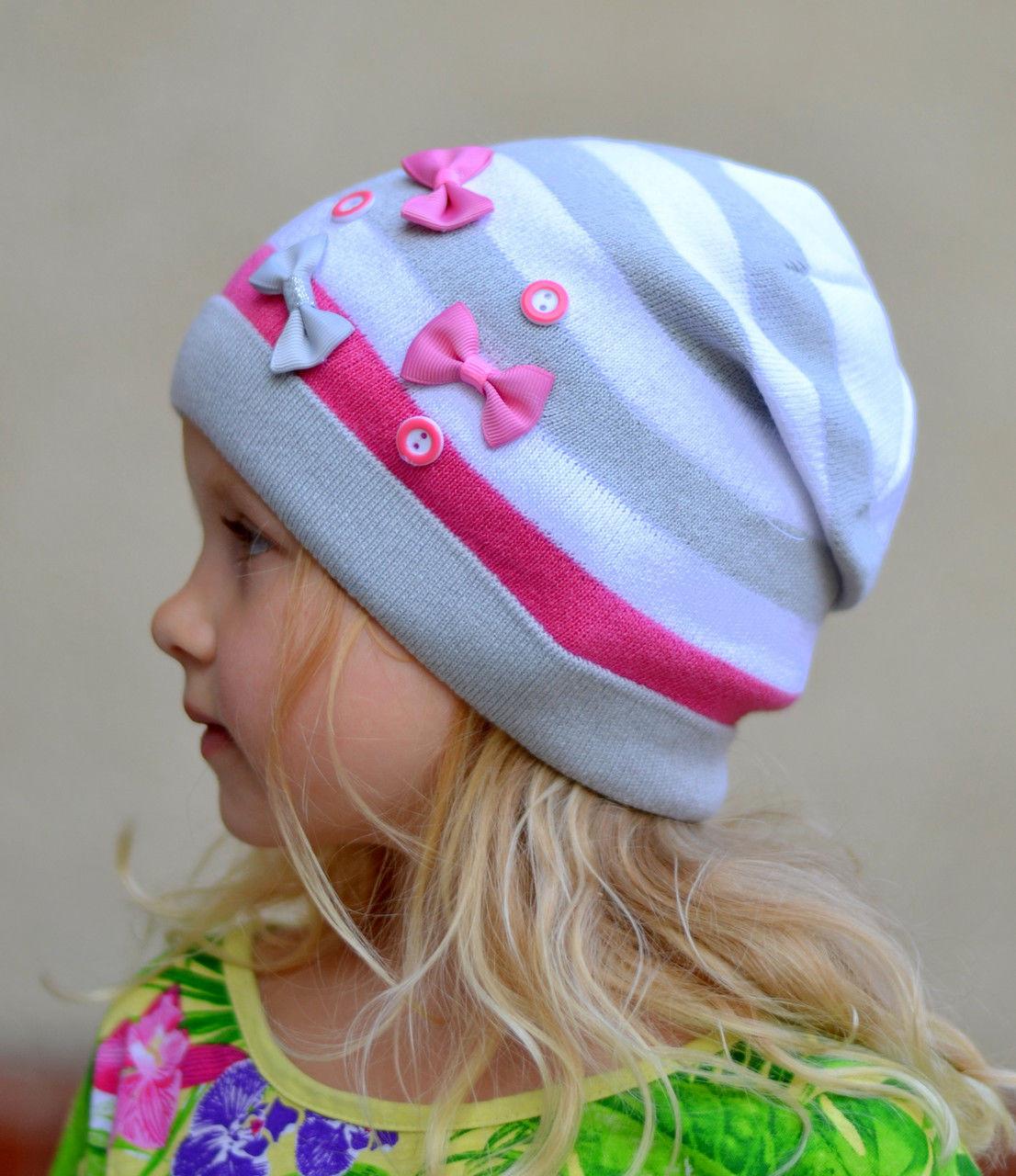 Хлопковая шапка весенняя для девочки