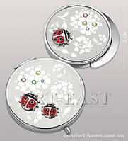 Подарочный набор (зеркальце + держатель для сумочки) WIN- 101 серебро