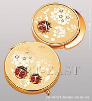 Подарочный набор (зеркальце + держатель для сумочки) WIN- 102 золото