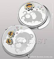 Подарочный набор (зеркальце + держатель для сумочки) WIN- 105 серебро