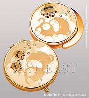 Подарочный набор (зеркальце + держатель для сумочки) WIN- 106 золото