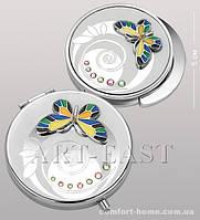 Подарочный набор (зеркальце + держатель для сумочки) WIN- 107 серебро