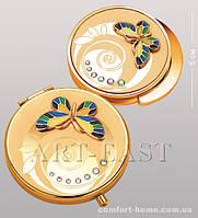 Подарочный набор (зеркальце + держатель для сумочки) WIN- 108 золото