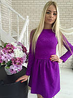 Красивое платье с приссобранной юбкой