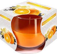 Свеча ароматизированная в стекле ваниль апельсин 1шт