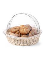 Корзинка для хлеба и булочек с кришкой круглая Hendi 426951