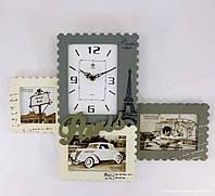 """Фотоколлаж с часами """"Paris"""""""