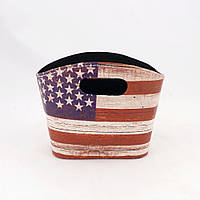 Газетница флаг США малая в стиле Шебби шик SH31425-302