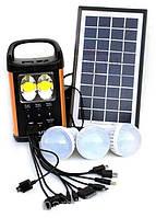 Портативная солнечная система с лампами (аккумулятор) GD Light GD-8031
