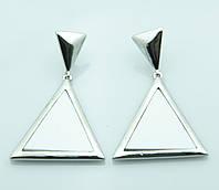 Серьги треугольники белые. Бижутерия недорого в Ровно. 2010
