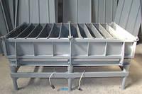 Виброформа для производства бордюра 1000х300х150 (8 шт),1 вибратор ИВ-99