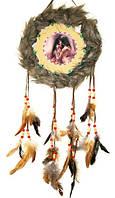 Ловец снов мохнатый с перьями №6