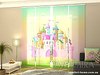 Панельная ФотоШтора Розовый замок (4 шт. комплект)