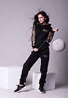 Спортивный женский костюм чёрный  D&G Арт-5020/44